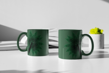 two-11-oz-Treefern-New-Zealand-coffee-mugs-standing-on-a-white-table-3